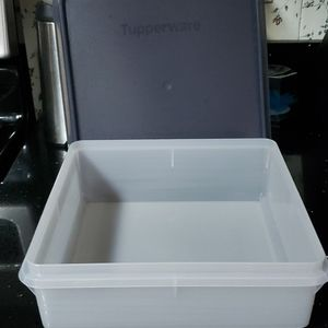 "9"" Square Tupperware Bowl with Cover"